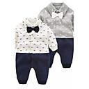 Χαμηλού Κόστους Σετ ρούχων για αγόρια-Μωρό Αγορίστικα Κινούμενα σχέδια Συμπαγές Χρώμα / Μοντέρνα / Άνθινο / Βοτανικό Μακρυμάνικο Ολόσωμη Φόρμα & Φόρμες Λευκό