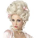 povoljno Stare svjetske nošnje-Sintetičke perike / Perike za maškare Kovrčav Kardashian Stil Capless Perika Bijela Bijela Sintentička kosa Marie Antoinette Žene Bijela Perika Srednja dužina StrongBeauty