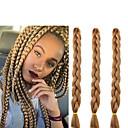 זול צמות שיער-שיער קלוע צמות תיבת צמות ג'מבו תוספות שיער משיער אנושי 100% שיער קנקלון שיער צמות יומי