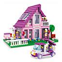 ราคาถูก บล็อกอาคาร-Building Blocks ปราสาท บ้าน Fun & Whimsical เด็กผู้หญิง Toy ของขวัญ