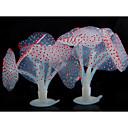 billige Akvarie Dekor og underlag-Fisketank Akvarium Dekorasjon Akvarium Korall Maneter Kunstige planter Lilla Gummi 9*9*10 cm