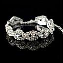 ราคาถูก สร้อยข้อมือ-สำหรับผู้หญิง สร้อยข้อมือเทนนิส Flower Gray Pearl สร้อยข้อมือเครื่องประดับ สีเงิน สำหรับ งานแต่งงาน ปาร์ตี้ การหมั้น ของขวัญ ทุกวัน พิธี