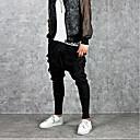 billige Sneakers til herrer-Herre Aktiv / Gatemote Sport Helg Løstsittende Harem / Joggebukser Bukser - Ensfarget Svart XL XXL XXXL