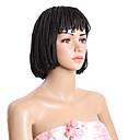 Χαμηλού Κόστους κοκκινίζω-Συνθετικές Περούκες Κούρεμα καρέ Περούκα Κοντό Μπεζ Μαύρο Συνθετικά μαλλιά Μαύρο Καφέ