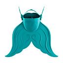 baratos Mascaras de Mergulho, Snorkels & Pés de Pato-Fins de Mergulho Barbatanas Portátil sereia Pala Curta Natação Mergulho Snorkeling PE TPR - para Infantil Vermelho Verde Azul