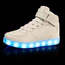 Χαμηλού Κόστους LED Παπούτσια-Αγορίστικα LED / Ανατομικό / Φωτιζόμενα παπούτσια Δερματίνη Αθλητικά Παπούτσια Τα μικρά παιδιά (4-7ys) / Μεγάλα παιδιά (7 ετών +) Περπάτημα Γάντζος & Θηλιά / LED Μαύρο / Λευκό / Χρυσό / Καοτσούκ