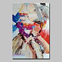 Χαμηλού Κόστους Πίνακες με Λουλούδια/Φυτά-Hang-ζωγραφισμένα ελαιογραφία Ζωγραφισμένα στο χέρι - Αφηρημένο Αφηρημένο Μοντέρνα Χωρίς Εσωτερικό Πλαίσιο / Κυλινδρικός καμβάς