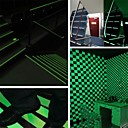 billige Bursdagdekor-glød lysbånds advarselstriper lyser i den mørke nødlinjen vinylvinduet fluorescerende strimmelklistremerke