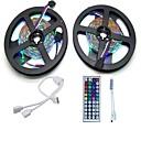 povoljno Sigurnost-10m Setovi svjetala 600 LED diode 3528 SMD RGB Daljinsko upravljanje / Cuttable / Zatamnjen 12 V 1set / Povezivo / Samoljepljiva / Promjenjive boje / IP44