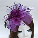 cheap Party Headpieces-Feather / Net Headbands / Fascinators with 1 Wedding / Party / Evening Headpiece