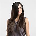 Χαμηλού Κόστους Διακόσμηση Τελετής-Συνθετικές Περούκες Ίσιο Ίσια Περούκα Μακρύ Μπεζ Συνθετικά μαλλιά Γυναικεία Μαλλιά με ανταύγειες Καφέ MAYSU