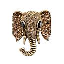 ราคาถูก พวงกุญแจ-สำหรับผู้หญิง เข็มกลัด ช้าง Animal สุภาพสตรี ส่วนบุคคล Indian พลอยเทียม ชุบเงิน เข็มกลัด เครื่องประดับ สีทอง สีเงิน สำหรับ ของขวัญ Stage