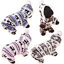 ราคาถูก วง Smartwatch-สุนัข เสื้อกันหนาว Hoodies ชุด Jumpsuits ฤดูหนาว Dog Clothes ฟ้า สีชมพู สีเทา เครื่องแต่งกาย ฝ้าย กวางขนาดใหญ่ ง่าย / ประจำวัน สไตล์น่ารัก S M L XL XXL