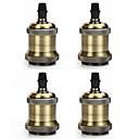 baratos Extensões de Cabelo Ombre-4 pcs e26 / e27 parafuso soquete lâmpada edison titular da lâmpada pingente retro sem cabo e interruptor