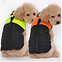 baratos Roupas para Cães-Cachorro Colete Inverno Roupas para Cães Laranja Verde Vermelho Ocasiões Especiais Terylene Algodão Sólido Casual S M L XL XXL