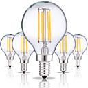 billiga Hårförlängningar i naturlig färg-5pcs 4 W LED-glödlampor 360 lm E14 G45 4 LED-pärlor COB Dekorativ Varmvit Kallvit 220-240 V / RoHs
