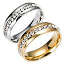 billiga Moderingar-Herr Bandring Eternity Ring Guld Silver Rostfritt stål Titanstål Mode Bröllop Dagligen Smycken