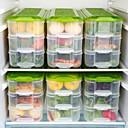 baratos Frascos e Caixas-Caixa de armazenamento de cozinha mais nítida de 3 camadas de geladeira caixa de armazenamento de alimentos congelados tampa do recipiente de armazenamento doméstico