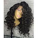 Χαμηλού Κόστους Περούκες από Ανθρώπινη Τρίχα-Φυσικά μαλλιά Δαντέλα Μπροστά Χωρίς Κόλλα Δαντέλα Μπροστά Περούκα στυλ Περουβιανή Σγουρά Περούκα 130% Πυκνότητα μαλλιών με τα μαλλιά μωρών Φυσική γραμμή των μαλλιών Γυναικεία Μακρύ