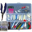ราคาถูก กระเป๋ากันน้ำ และ กล่องกันน้ำ-153 pcs ที่ลวงตาในเบ็ด Hard Bait เหยื่อตกปลานุ่ม Spoons Minnow Crank ดินสอ Popper อุปกรณ์ลอยน้ำ Sinking Bass ปลาเทราท์ หอก ตกปลาทะเล เบทคาสติ้ง ตกปลาบนธารน้ำแข็ง พลาสติก / การตกปลาคารฺ์พ / Vibration