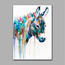 ราคาถูก ภาพวาดสัตว์-ภาพวาดสีน้ำมันแขวนทาสี มือวาด - สัตว์ต่างๆ ที่ทันสมัย โดยไม่ต้องภายในกรอบ / ผ้าใบรีด