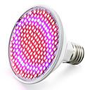 Χαμηλού Κόστους LED Bi-pin Λαμπτήρες-1pc 6 W 6.2 W Καλλιέργεια λαμπτήρα 800-850 lm E26 / E27 200 LED χάντρες SMD 2835 Κόκκινο Μπλε 85-265 V / 1 τμχ / RoHs / FCC