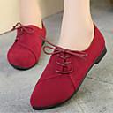 ราคาถูก รองเท้าแตะและรองเท้าโลฟเฟอร์สำหรับผู้หญิง-สำหรับผู้หญิง รองเท้าส้นเตี้ยทำมาจากหนังและรองเท้าสวมแบบไม่มีเชือก ส้นแบน Pointed Toe ผ้า ความสะดวกสบาย ตก สีดำ / สีเหลือง / แดง / EU39