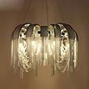 billige Stearinlysdesign-8-Light Anheng Lys Omgivelseslys Krom Metall Mini Stil, Pære Inkludert, designere 110-120V / 220-240V Varm Hvit / Kald Hvit