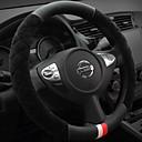 Χαμηλού Κόστους Καλύμματα για το τιμόνι αυτοκινήτου-Καλύμματα για το τιμόνι αυτοκινήτου Χνουδωτό 38 εκ Μπεζ / Γκρίζο / Βυσσινί Για Buick Όλες οι χρονιές