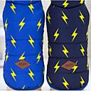 baratos Roupas para Cães-Cachorro Colete Inverno Roupas para Cães Azul marinho Azul Ocasiões Especiais Algodão Geométrica Mantenha Quente S M L XL XXL