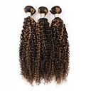 Χαμηλού Κόστους Χωρίς κάλυμμα-3 δεσμίδες Περουβιανή Σγουρά Αγνή Τρίχα Ombre 10=22 inch Υφάνσεις ανθρώπινα μαλλιών Επεκτάσεις ανθρώπινα μαλλιών / 10A
