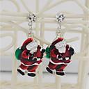 Χαμηλού Κόστους Θρησκευτικά Κοσμήματα-Γυναικεία Κουμπωτά Σκουλαρίκια Κλασσικό Μοντέρνα Σκουλαρίκια Κοσμήματα Σκούρο κόκκινο Για Χριστούγεννα Καθημερινά