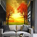 ราคาถูก ภาพจิตรกรรมฝาผนัง-ต้นไม้ใบสีแดงที่กำหนดเอง 3 มิติขนาดใหญ่กำแพงครอบคลุมภาพจิตรกรรมฝาผนังพอดีกับห้องนอนห้องพักโรงแรมกาแฟ