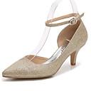 ราคาถูก รองเท้ากีฬาสำหรับสตรี-สำหรับผู้หญิง รองเท้าแต่งงาน ส้นกรวย Pointed Toe แวววาว ปั๊มพื้นฐาน / สายคล้องข้อเท้า ฤดูใบไม้ผลิ / ตก สีทอง / สีเงิน / งานแต่งงาน / พรรคและเย็น