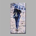 billiga Människomålningar-Hang målad oljemålning HANDMÅLAD - Människor Konst Dekor / Retro Utan innerram / Valsad duk