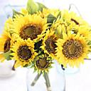 Χαμηλού Κόστους Ψεύτικα Λουλούδια-Ψεύτικα λουλούδια 7 Κλαδί Ευρωπαϊκό Ηλιοτρόπια Λουλούδι για Τραπέζι