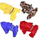 billiga Hundkläder-Hund Regnjacka Hundkläder Kamoflagefärg Gul Röd Kostym Akrylik Fiber Enfärgad Ledigt / vardag XS S M L XL XXL