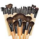 billiga makeup borste set-Professionell Makeupborstar Borstsatser 32pcs Söt Fullständig Täckning Bokträ / Aluminium Sminkborstar för