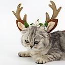 olcso Pet karácsonyi jelmezek-Cica Kutya Ékszerek Tél Kutyaruházat Barna Jelmez Plüss anyag Rénszarvas Party Szerepjáték Karácsony M L