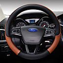 Χαμηλού Κόστους Καλύμματα για το τιμόνι αυτοκινήτου-Καλύμματα για το τιμόνι αυτοκινήτου Δερμάτινο 38 εκ Καφέ / Μαύρο / μωβ / Μαύρο / Λευκό Για Ford Focus / Escort / Fiesta Όλες οι χρονιές