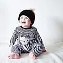 Χαμηλού Κόστους Περιποίηση και styling μαλλιών-Μωρό Κοριτσίστικα Ριγέ Συμπαγές Χρώμα / Ριγέ Μακρυμάνικο Βαμβάκι Ολόσωμη Φόρμα & Φόρμες Μαύρο