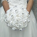 "baratos Bouquets de Noiva-Bouquets de Noiva Buquês Casamento Poliéster / Espuma 9.84""(Aprox.25cm)"