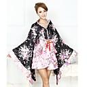 billiga Smartwatch-band-Piguniform Wa Lolita Vintage-inspirerad Klänningar Kimono Dam Flickor Japanska Cosplay-kostymer Blommig Tryck Mode Långärmad Asymmetrisk