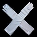 povoljno Party rukavice-Rastezljivi saten / spandex tkanina Opera stil Rukavica Rukavice za mladenku / Rukavice za zabave S Biser