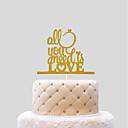 Χαμηλού Κόστους Κορνίζες Υπογραφών & Πιατέλες-Διακοσμητικό Τούρτας Γάμος Καρδιές Χαρτί Γάμου με 1 Τσάντα PVC