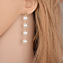 ราคาถูก ตุ้มหู-สำหรับผู้หญิง Drop Earrings ต่างหูห้อย ยาว อุปกรณ์ลอยน้ำ หล่น ถูก สุภาพสตรี สไตล์เรียบง่าย แฟชั่น สง่างาม Everyday ไข่มุกเทียม ต่างหู เครื่องประดับ สีทอง / สีเงิน สำหรับ ปาร์ตี้ ที่มา