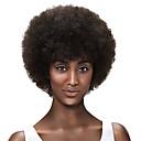billiga Syntetiska peruker utan hätta-Syntetiska peruker Afro Afro Peruk Korta Svart Mörkbrun / Medium Rödbrun Syntetiskt hår Dam Afro-amerikansk peruk Svart