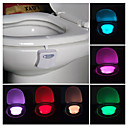 billige Innendørs Natt Lys-Toalettbørsteholder Fargeskiftende Moderne Plastikker 1pc - Baderom LED Light Bulbs / Round Toilet Seat