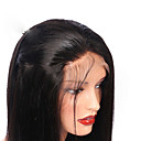 billiga Syntetiska peruker utan hätta-Äkta hår Halvnät utan lim Spetsfront Peruk stil Peruanskt hår Rak Peruk 130% Hårtäthet med babyhår Naturlig hårlinje Till färgade kvinnor Dam Korta Mellan Lång Äkta peruker med hätta