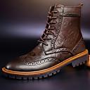 ราคาถูก รองเท้าบูตผู้ชาย-สำหรับผู้ชาย รองเท้าบู้ท หนัง ตก / ฤดูหนาว ไม่เป็นทางการ บูท รองเท้าบู้ทหุ้มข้อ สีดำ / สีน้ำตาล / ลูกไม้ขึ้น / กลางแจ้ง / รองเท้าคอมแบท / EU40